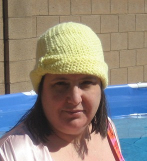 My spring cloche out by the pool