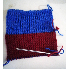 HP SS scarf swatch